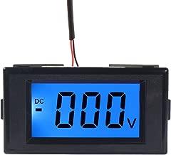 DROK 090749 Digital Voltmeter Gauge DC 0-600V Voltage Meter Gauges Power Supply AC/DC 9 to 12V Blue LCD Digital Display Voltage Tester Monitoring
