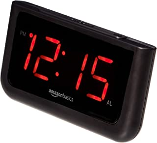 AmazonBasics Digital Alarm Clock with Large 1.4-Inch Display with Battery Backup and LED Display