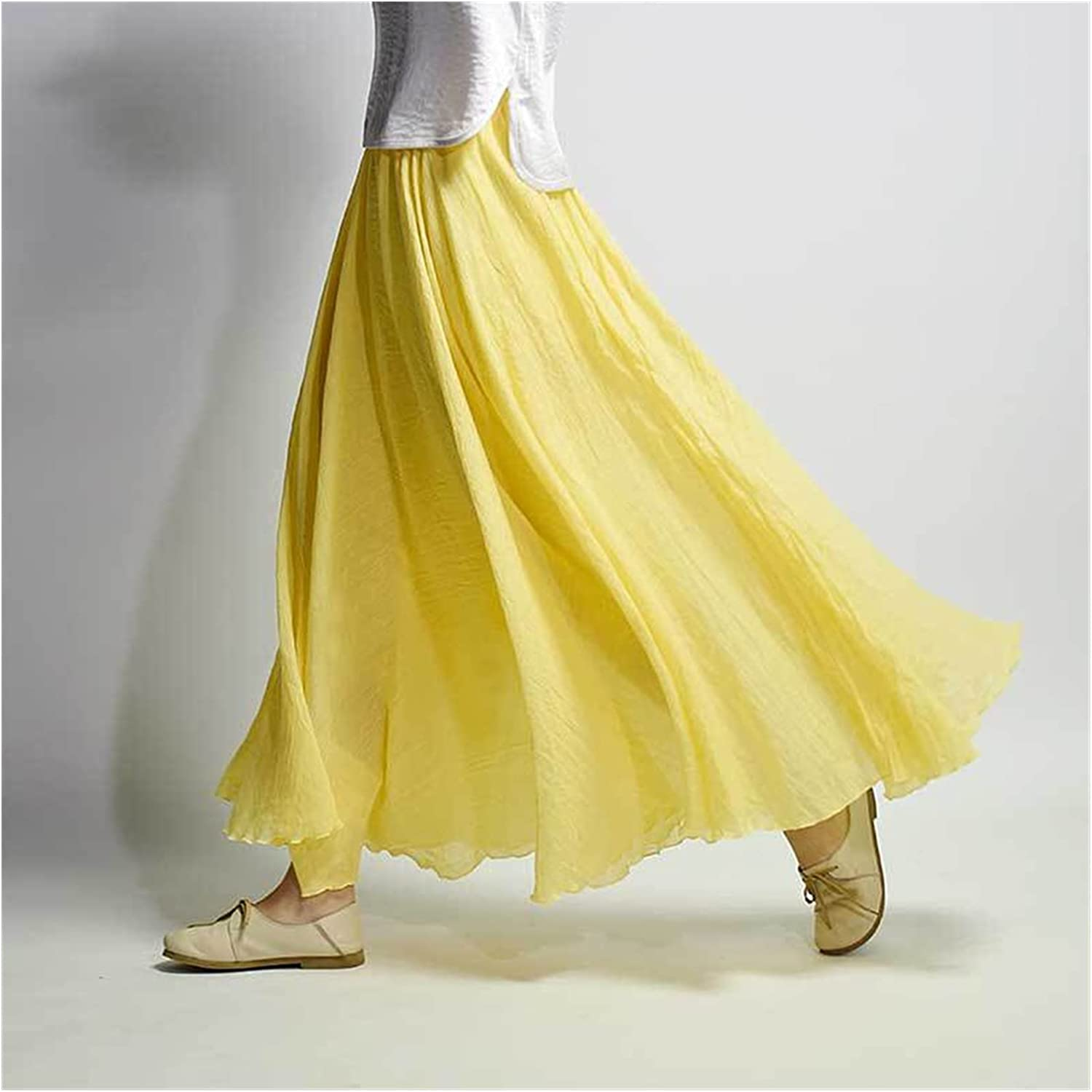Uongfi Wedding Dresses for Bride Linen Cotton Cheap mail order specialty Safety and trust store Women Long Skirts