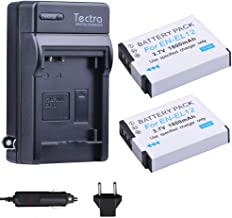 Tectra 3.7V 1800mAh EN-EL12 Replacement Battery + Travel Charger Kits for Nikon Coolpix A1000 B600 W300 A900 AW100 AW110 AW120 AW130 S6300 S8100 S8200 S9050 S9200 S9300 S9400 S9500 S9700 S9900 P310