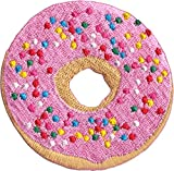 Pink Sprinkled Donut - Cut Out Embroidered Iron On or Sew On Patch