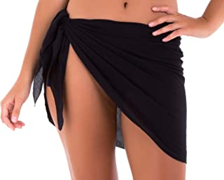 Womens Bathing Suit Cover Up Sarong Pareo Beach Skirt Short Sarong Wrap