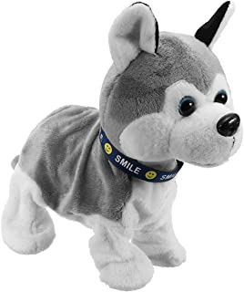 Annibus Interactive Dog Electronic Pet Stuffed Plush Toy Control Walk Sound Husky Reacts Touch
