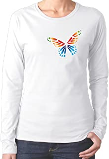 Yagheha9 Casual Butterfly Lady Cotton Tee2016 Newest
