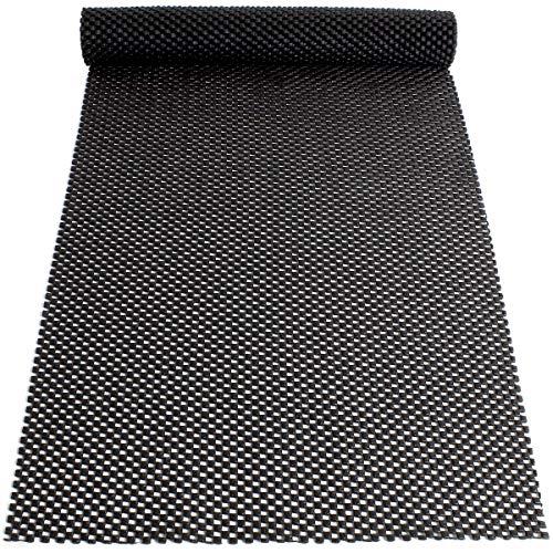 iGadgitz Home U6926 - Mehrzweck Antirutschmatte (110 x 30 cm) Halterollen für Schubladen, Küchenregale, Werkstatt, Büro usw. - schwarz