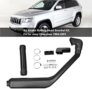 Snorkel Kit for Jeep,Air Ram Intake Rolling Head Snorkel Kit System Upgrade for Jeep Cherokee 1984-2001