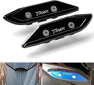 T MAX 530 Motocicleta CNC Espejos Retrovisores Laterales Espejos Tapa Orificio para Yamaha T-MAX TMAX T MAX 530 2012 2013 2014 2015 2016 2017-Negro