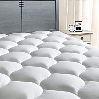 "MASVIS Full XL Mattress Pad Cover 8-21""Deep Pocket - Pillow Top Quilted Mattress Topper Overfilled Snow Down Alternative (54 x 80"" inch"