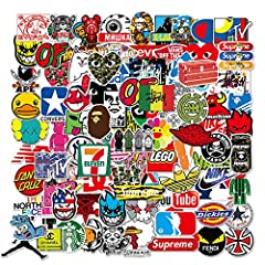 You will get About 3-4 inches 100 pieces of Cool stickers No duplicates. and vibrant stickers will add color in life. Compliments and good mood ! Designed for teens. Fantastic gift for teens. Perfect to embellish Laptops,Backpacks, Skateboards, Lugga...