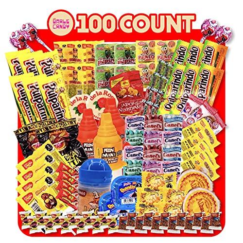 Mexican Candy Mix Assortment, Dulces mexicanos, Includes Lucas tamarind, Vero mango, Duvalin, Mazapan, Pelon pelo rico, Tamarindo candies, Mexican candies, Mexican candy variety pack