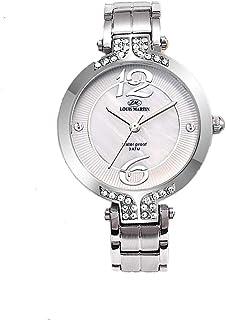 ساعة نسائية من لويس مارتن ستانلس ستيل انالوج مقاوم للماء