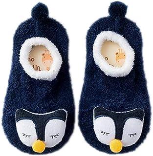 Bebé De Dibujos Animados Antideslizante Zapatos De Bebé Calcetines De Dibujos Animados Mullidos Calcetines Invierno Engrosamiento Cómodos Calcetines De Los Niños En Casa