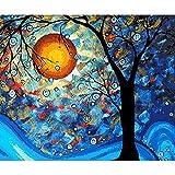 HUINXVEU Dream Tree Paint by números para niñosPrincipiante Set de Regalo de colorante a Base de Bricolaje Habitación Artwork painter40x50cm Sin Marco