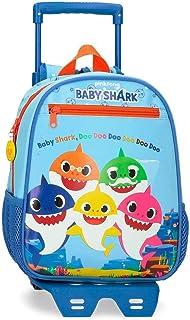 Shark Family Mochila Preescolar con Carro Azul 23x28x10 cms Microfibra 6.44L