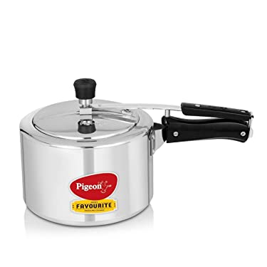 Pigeon by Stovekraft 12091 Favourite Aluminium Induction Base Pressure Cooker with Inner Lid, 3 Litres, Silver