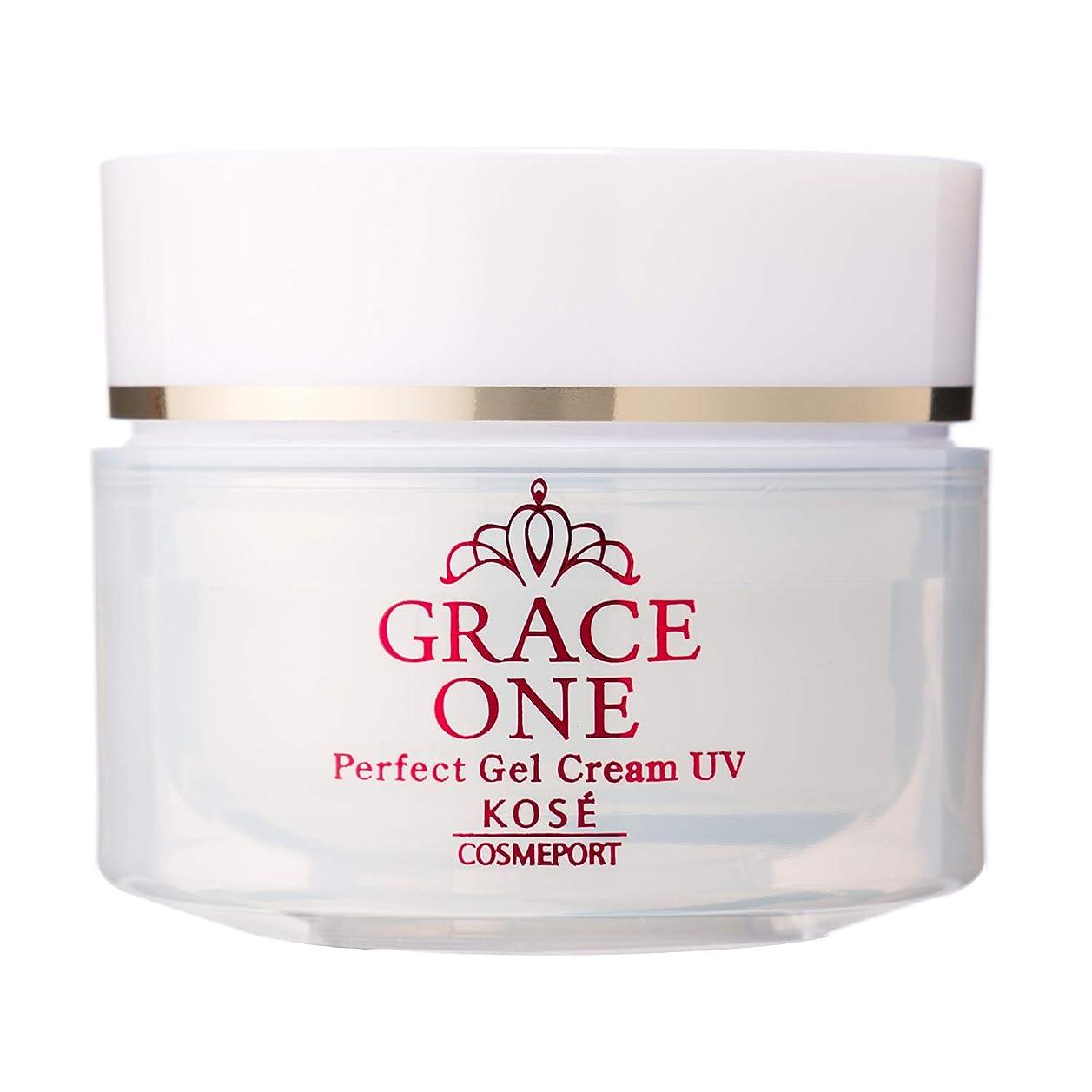 インデックス才能期待するKOSE コーセー グレイスワン オールインワン 濃潤リペアジェルUV (SPF50+ PA++++) 100g