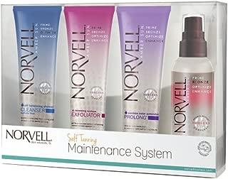 Norvell Self-Tanning Maintenance System - Renewing Exfoliator (2.5 oz), Body Buff eXmitt (Single), Bronzing 4-Face Self Tanner (2 oz), pH Balancing Cleanser (2.5 oz)