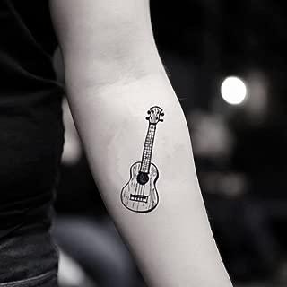 Ukulele Temporary Fake Tattoo Sticker (Set of 2) - www.ohmytat.com