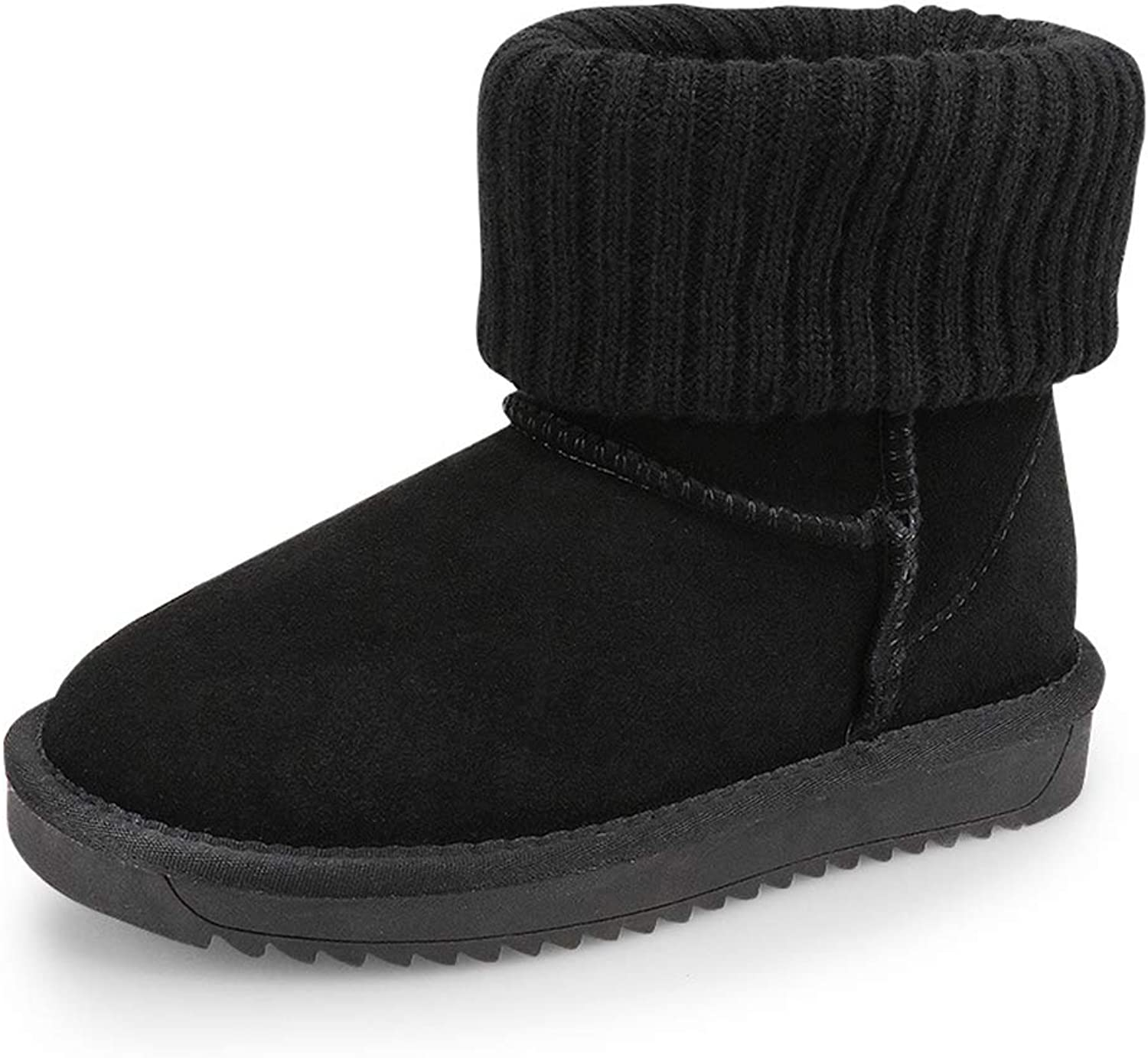 Kids Winter Warm Snow Boots Girl's Fur Lined Boots ToddlerBoot