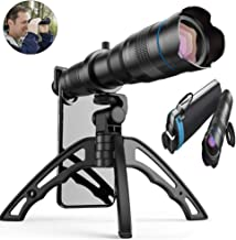 Aokin 36x HD Cell Phone Camera Lens, 36x Telephoto Zoom Lens Dual Focus HD 4K, Free UV Lens Detachable Clamps Strong Tripod Portable Package for iPhone XR,XS MAX,XS,X,8,7,6,6s Plus Smartphone