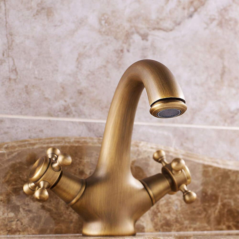 Waschbecken Wasserhahn Vorspülen Weit verbreitet Antikkupfer Weit verbreitet Zwei Griffe Zwei Lcher 2