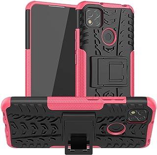 携帯電話保護ケース for Xiaomi Redmi 9cタイヤのテクスチャの耐衝撃TPU + PC保護ケース 携帯電話シェル