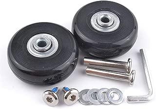 1 Pair Luggage Suitcase Replacement Wheels Axles 30 Deluxe Repair 50x18mm (Black)