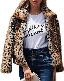 Women's Faux Fur Coat Fashion Winter Warm Outwear Jacket Cardigan Cocktail Club Party