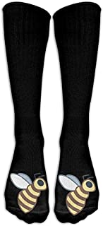 ulxjll, Calcetines De La Tripulación Bumblebee Novedad Soft Impreso Tripulación Transpirable Niños Niñas Calcetines Largos Hasta La Rodilla Viaje Medias Divertidas Divertidas 50Cm