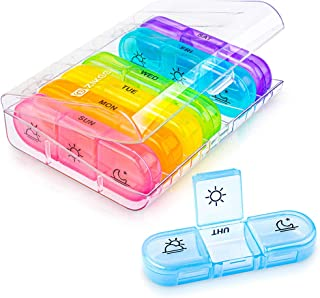 Zikee Weekly Pill Organizer (3-Times-A-Day), 7 Day Pill Box Case with Large Daily Containers for Pills, Vitamin, Fish Oil,...