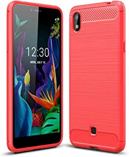 zl one Compatible with/Replacement for Phone Case LG K20 2019 Back Cover Ultra-Thin TPU Bumper (Red)