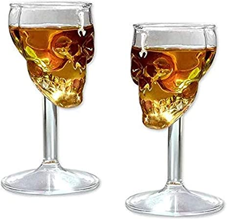 RED SHORE Creativa Calavera Cáliz Whisky Esqueleto Copa de ...