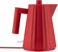 Alessi Plissè MDL06/1RUK - Design Electric Kettle in Thermoplastic Resin, English Plug, 100 cl, Red