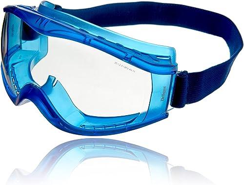 Dräger X-pect 8520 | Lunettes de securité UV, Anti-buée, Anti-Rayures | Lunettes-Masque de Protection en Polycarbonat...