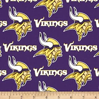 Fabric Traditions 0310917 NFL Cotton Broadcloth Minnesota Vikings Fabric by The Yard