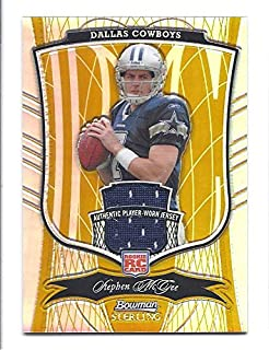 STEPHEN MCGEE 2009 Bowman Sterling #167 Gold Refractor Parallel JERSEY ROOKIE Card RC #07 of only 25 Made! Hamilton Tiger-Cats Dallas Cowboys Football