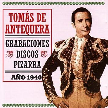 Tomás De Antequera: Grabaciones Discos Pizarra