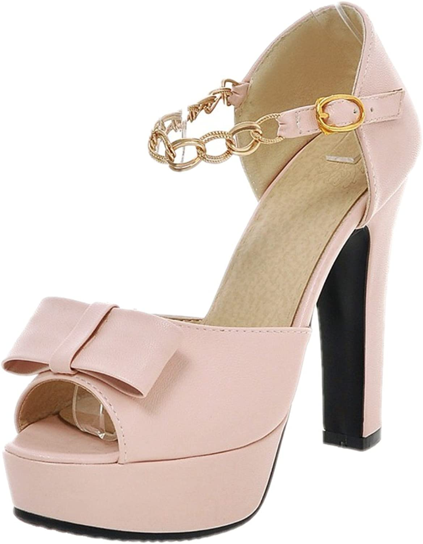 Rongzhi Womens Platform High Heels Block Heels Ankle Strap Pumps Heeled Sandals Dress Party Open Toe