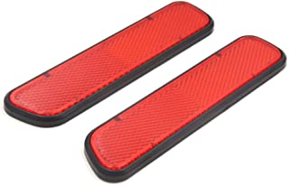 uxcell 2Pcs Red Plastic Car Vehicle Reflective Sticker Decor Self Adhesive Reflectors