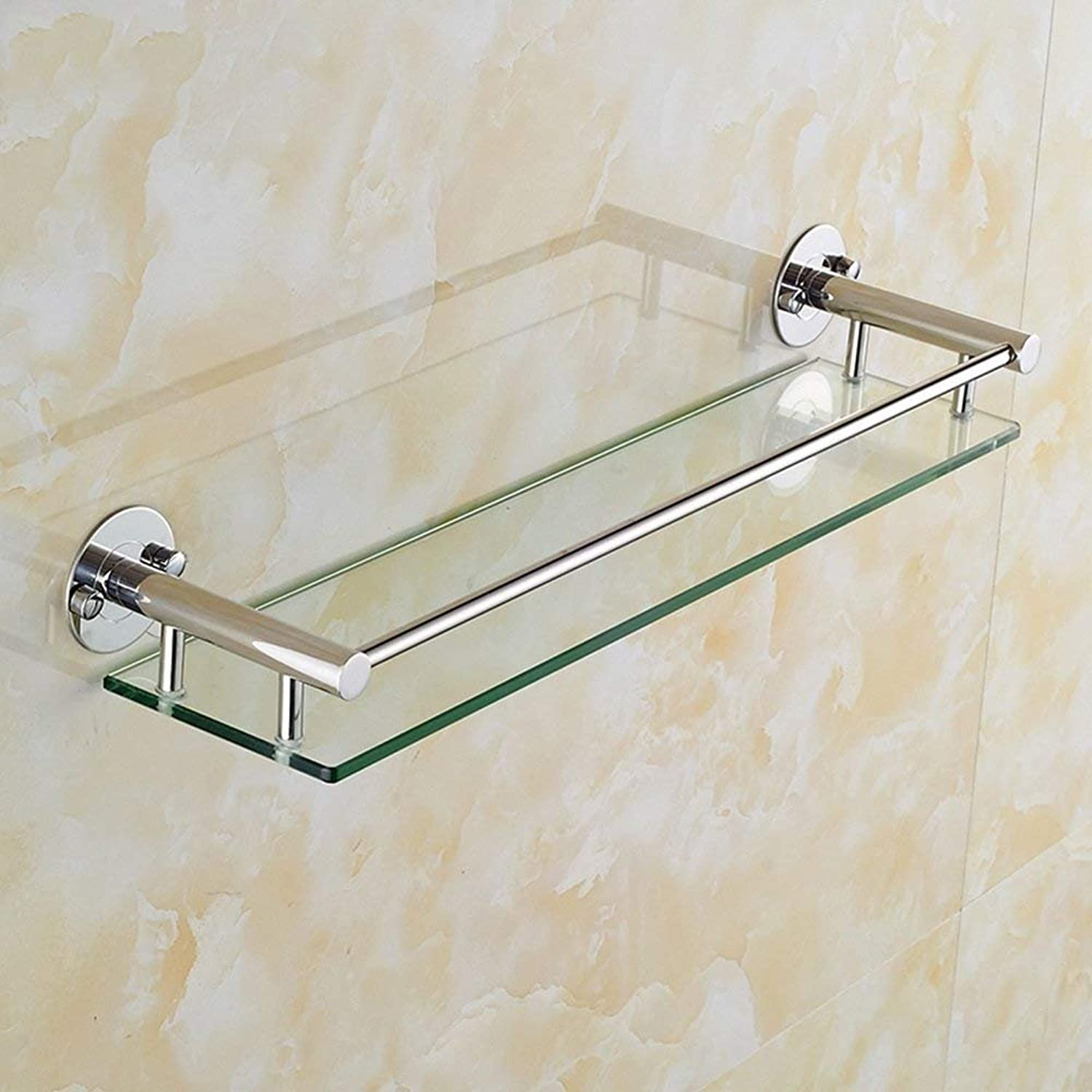 Bathroom Rack Wall Stainless Steel and Glass Three Sizes (Size  12  40cm)