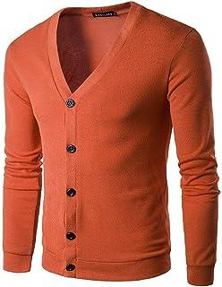 DressU Mens Cardigan Winter Leisure Zip-up Warm Pullover Sweater