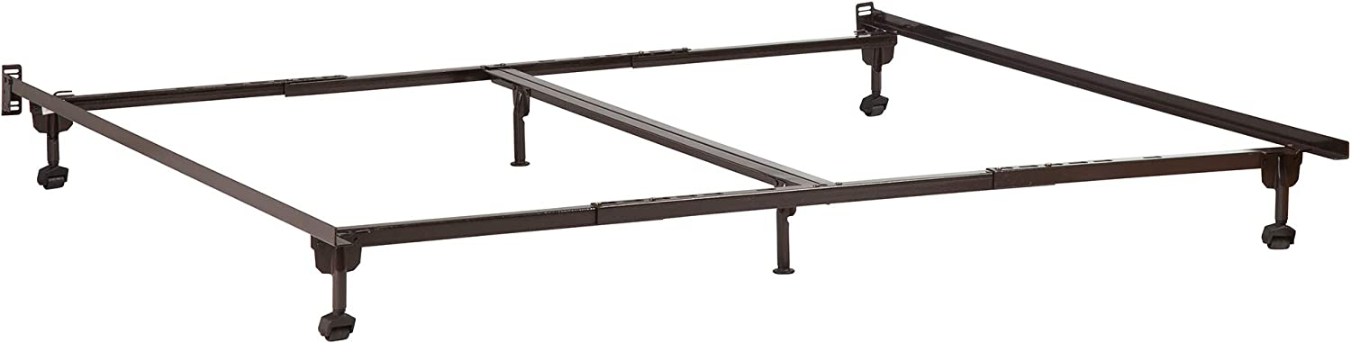 Metal Bed Frame with Rug Rollers, Twin, Twin Extra Long, Full, Queen, King