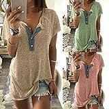 VENMO Camisetas Mujer,Tops Mujer Verano,Blusas Mujer,Casual