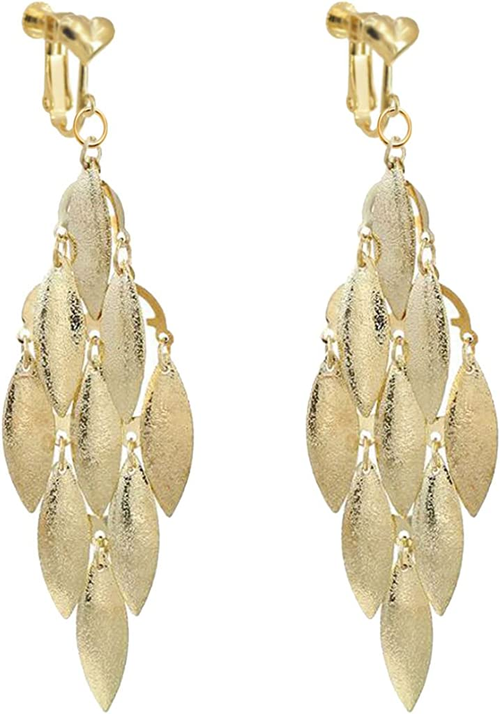 Personalized Leaf Clip Max 78% OFF on Earrings for Girls Max 60% OFF Women Plated M Gold