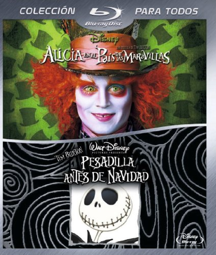 Pack: Alicia En El País De Las Maravillas + Pesadilla Antes De Navidad [Blu-ray]