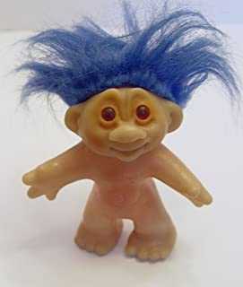DAM Blue Haired 1986 Troll Doll 4.5 Inches Tall