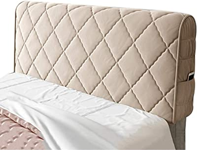 Bed Headboard Cover Single Double King Size Stretch Head Protector Color Champagne 150cm