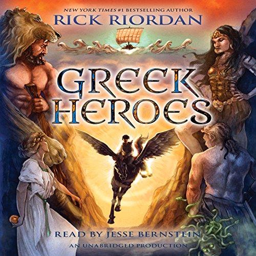 Percy Jackson's Greek Heroes audiobook cover art