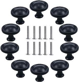 Bouton Porte,10 PCS Noir Tiroir de Porte Poign/ée,30mm Poign/ées pour placards,Bouton de Meubles chambre denfant,pour Tiroir Armoire Meuble Cuisine Carr/é