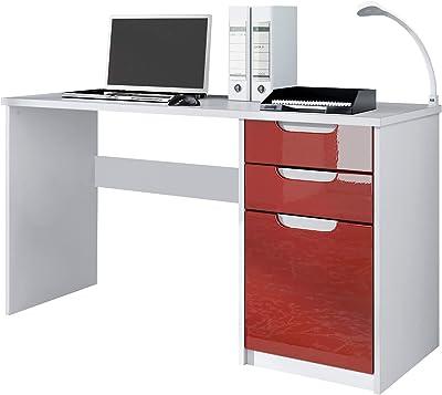 SERMAHOME- Mesa Escritorio con 2 cajones Reversible. Ideal para ...